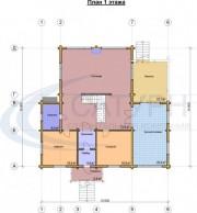 Проект Дипломат - План 1 этажа